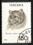 Stamps Tanzania -  Persian silver taboy cat