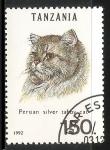 Sellos del Mundo : Africa : Tanzania : Persian silver taboy cat