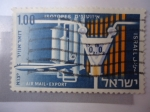 Sellos de Asia - Israel -  Isotopes - Air mail Export.