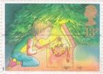 Stamps United Kingdom -  niño y regalos de navidad