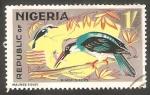 Stamps : Africa : Nigeria :  185 - Pájaro martín pescador