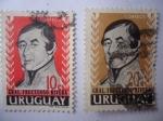 Stamps Uruguay -  General, Fructuoso Rivera.