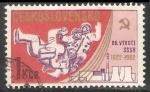 Sellos de Europa - Checoslovaquia -  Austronautas