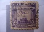 Stamps Peru -  Conferencia-Tecnica Interamericana de Aviación - Primer vuelo por en el Perú por el Aviador:Juan Bie