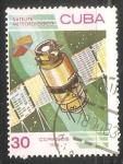 Sellos de America - Cuba -  Satelite Metereologico