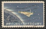 Stamps United States -  Project mercury U.S. Man in Space