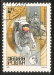 Stamps Hungary -  N. Armstrong- Apollo II