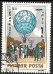 Sellos de Europa - Hungría -  Dr. Menner's air balloon, 1811