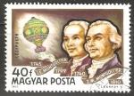 Sellos de Asia - Hungría -  Montgolfier brothers