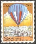 Sellos de Asia - Laos -  Air Balloon