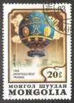 Stamps Mongolia -  Montgolfiere France 1783