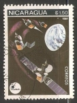 Stamps Nicaragua -  Representation of space exploration