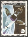 Stamps Nicaragua -   Satellite in space