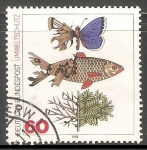 Sellos de Europa - Alemania -  Pez y mariposa