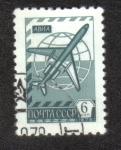 Sellos de Europa - Rusia -  Globo y el avión de pasajeros Tu- 154