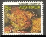 Sellos de Oceania - Australia -  Tasselled anglerfish-Peces Sapo