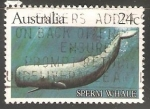 Stamps Australia -  Sperm Whale-Cachalote