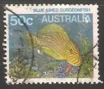 Sellos del Mundo : Oceania : Australia : Blue-Lined Surgeonfish