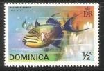 Stamps : America : Dominica :  Balistes Bursa
