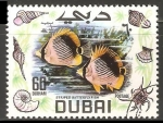 Stamps United Arab Emirates -  Striped butterflyfish