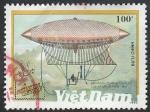 Sellos de Asia - Vietnam -  1127 - Dirigible