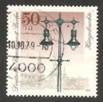 Stamps Germany -  Berlin - 565 - Farola a gas