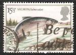 Sellos de Europa - Reino Unido -  Salmon