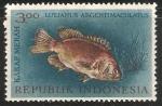 Sellos de Asia - Indonesia -  Lutjanus Argentimaculatus