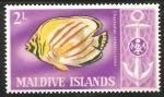 Sellos del Mundo : Asia : Maldivas : Chaetodon ornatissimus