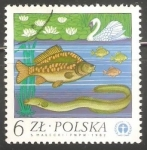 Stamps Poland -  pez y pato