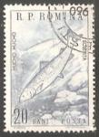 Sellos de Europa - Rumania -  Hucho Hucho- Salmon del danubio