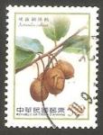 Sellos de Asia - Taiwán -  3430 - flor y fruto, actinidia callosa