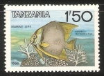 Stamps Tanzania -  Butterfly fish