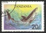 Sellos de Africa - Tanzania -  isurus oxyrinchus-Tiburón marrajo