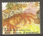 Stamps : Oceania : New_Zealand :  Red rock Crab- cangrejo