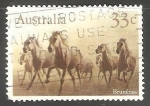 Sellos del Mundo : Oceania : Australia : Brumbies-caballo salvaje en Australia