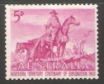 Sellos del Mundo : Oceania : Australia : Painting by Daryl Lindsay
