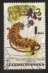 Sellos del Mundo : Europa : Checoslovaquia : M.Hanák : Ilustraciones para el libro de cuentos sobre animales