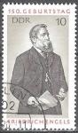Sellos de Europa - Alemania -  150a Aniv nacimiento de Friedrich Engels (economista politico),DDR.