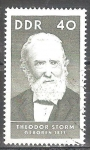 Sellos de Europa - Alemania -  Celebridades,Theodor Storm (poeta), nacido en 1817, DDR.