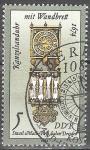 Sellos de Europa - Alemania -  Relojes de arena y relojes de sol. Cancillería de reloj de arena con montaje en pared,1674(DDR).