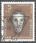 Sellos de Europa - Alemania -  Antifascistas, Tilde Klose (DDR).