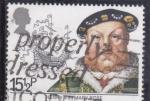 Stamps United Kingdom -  Enrique VIII