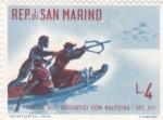 Stamps San Marino -  caza con ballesta