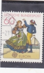 Stamps Germany -  EUROPA CEPT- baile típico