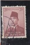 Sellos del Mundo : Asia : Indonesia : presidente Sukarno