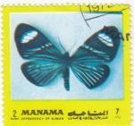 Sellos de Asia - Bahrein -  mariposa-