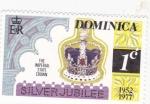 Sellos de America - Dominica -  corona real