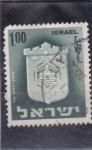 Sellos de Asia - Israel -  escudo de Tel Aviv