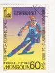 Sellos de Asia - Mongolia -  olimpiada de invierno Lake Placid-80